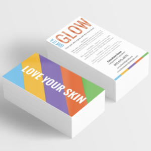 give it a glow, mini facial instruction card