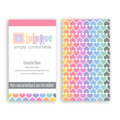 lularoe business card design template with lula roe approved colors