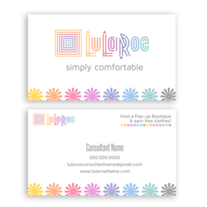 LuLaRoe approved color business card design template