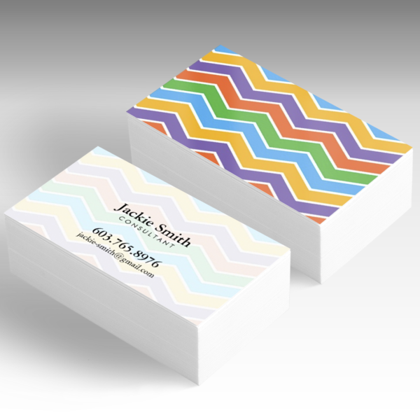 business card chevron
