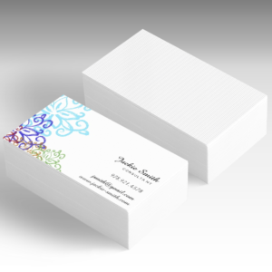 business card design floral pattern for direct sales consultants, estheticians, makeup artist, florist and many more professions who need to promote their brand and grow their business