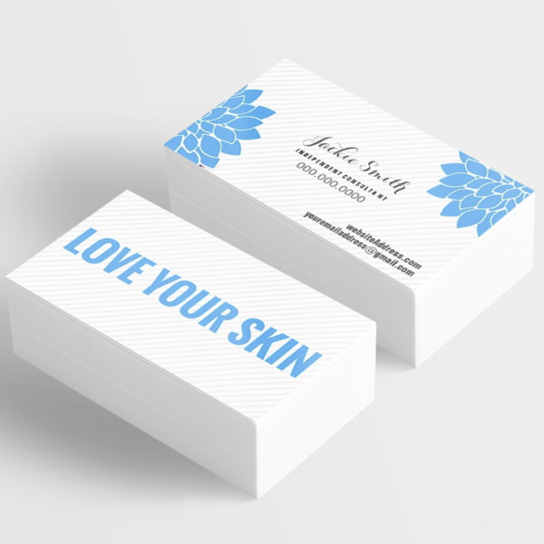 business card template for independent consultants love your skin