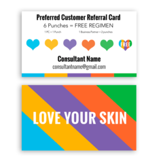 referral punch card for rodan and fields consultants