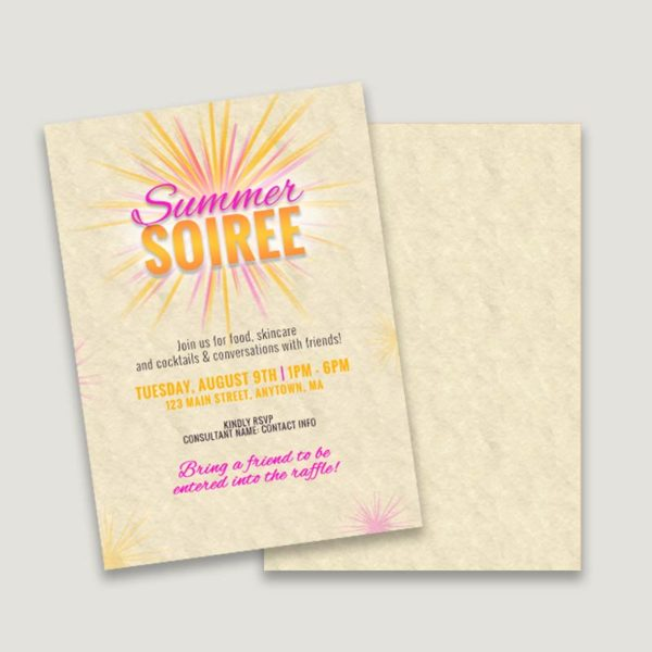 summer soiree make your own invitation design templates
