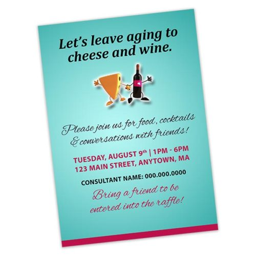 lets leave aging to cheese and wine rodan fields invitation
