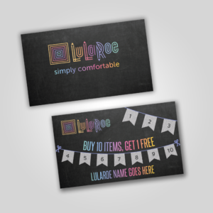 lularoe punch card for pop up boutique lularoe digital download