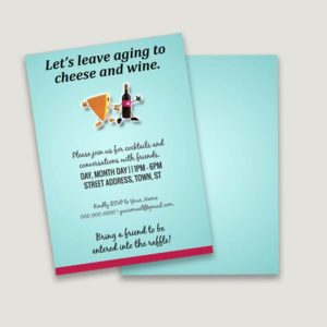 let's leave aging to cheese and wine make your own invitation design template
