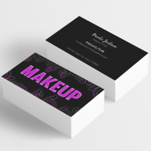 personalize and customize your own business card for make up artists and younique presenters, customer online, review online and order online, shop onine