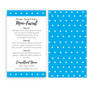 rodan and fields business card, glow card, rodan and fields intensive renewing serum instant download