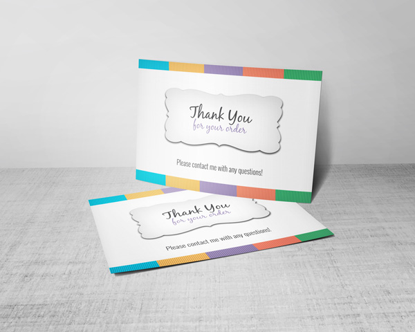 thank you for your order cards for rodan and fields consultants