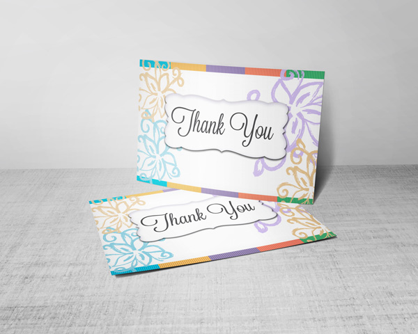 thank you for your order postcard blank on one side for hand written note.