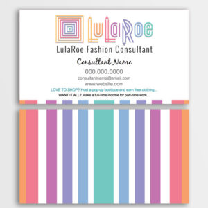 lula, lularoe business card design template