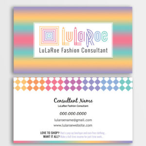 lularoe business card design approved colors