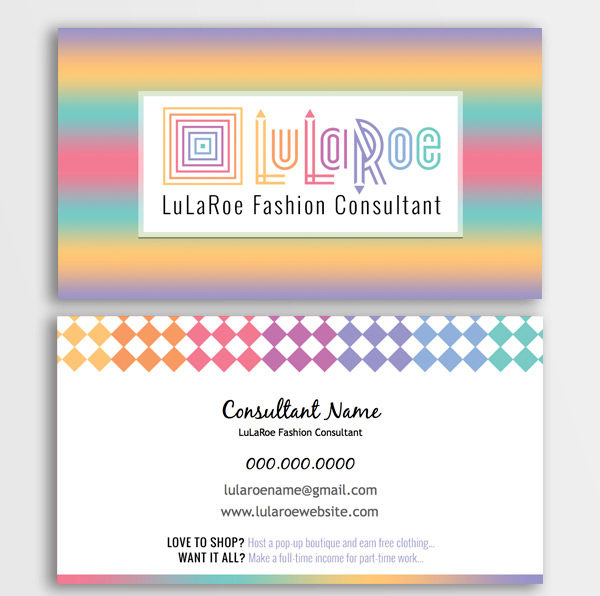 LuLaRoe Business Card - Ombre & Diamonds • ITW Visions