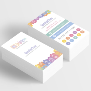 lularoe business card with flowers