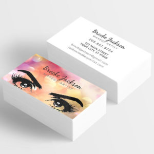make your own business card makeup artist eyelashes lashes
