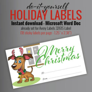 holiday gift labels, holiday gift tags, instant download, printable