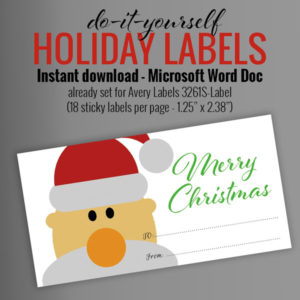 instant download holiday printable avery labels
