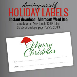 merry christmas santa hat christmas label holiday gift tag