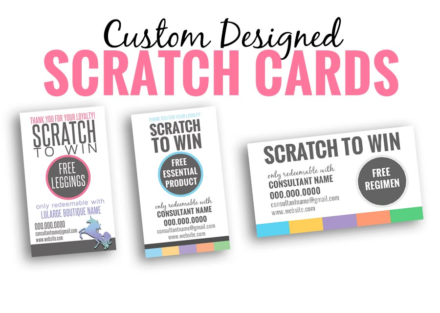 create customize scratch ticket cards for your business. a great way to get your product into your potential customers hands