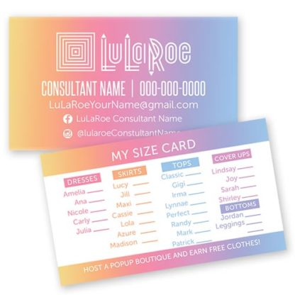 lularoe business my size card ombre boutique
