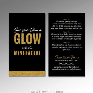 rodan and fields mini facial instruction card give it a glow love your skin printable