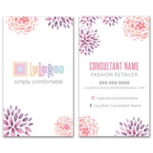 lularoe business card design, customize your own lularoe business card and other stationery for business events and invitations