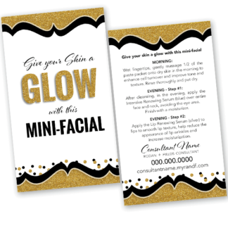 rodan fields business card mini facial glow card gold intensive renewing serum