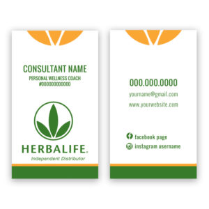 Herbalife business cards for independent distributors