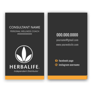 Herbalife business card for personal wellness coaches