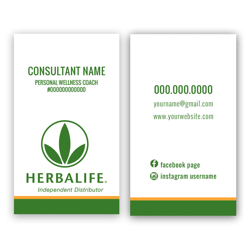 Herbalife Business Card - vertical 06 • ITW Visions