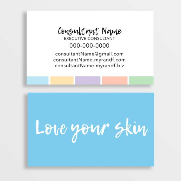 love your skin business cards rodan fields