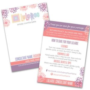 lularoe business card design water color flowers