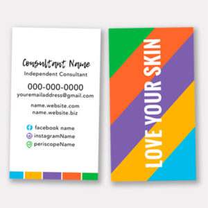 rodan and fields business card designs, love your skin