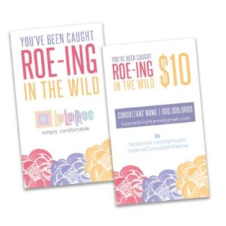 lularoe roeing in the wild gift certificate card