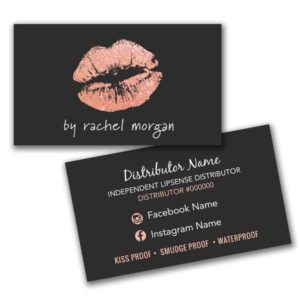 makeup artist business card rose gold
