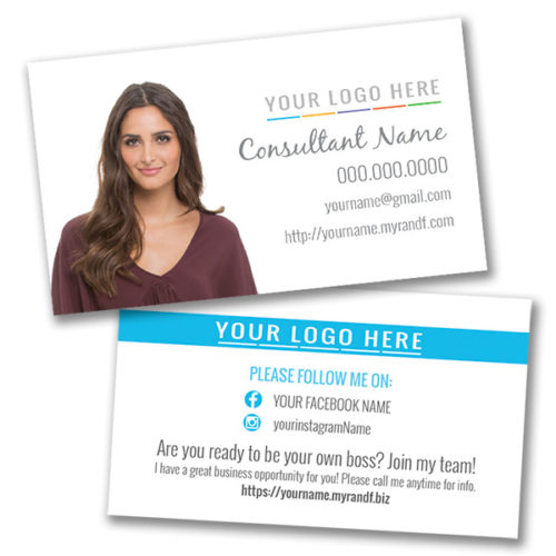 Skin Care Business Card Horizontal With Photo White Background - Rodan and fields business card template
