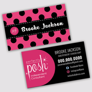 posh consultant business card