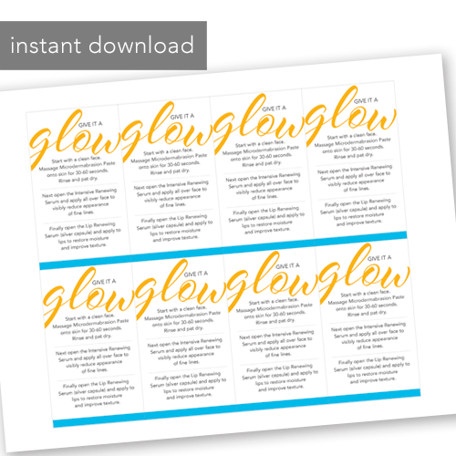rodan and fields instant download printable