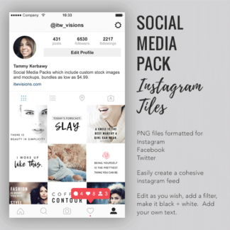 social media pack, instagram tiles, facebook image packs,
