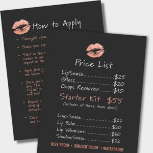 lipsense price list and how to apply bundle instant download