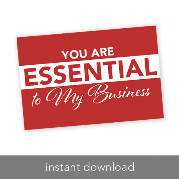 rodan and fields you are essential to my business instant download printable