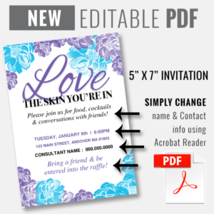 rodan fields invitation, rodan and fields editable invitation template, rodan fields invitation template,