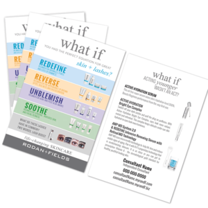 rodan and fields product card, rodan and fields business card