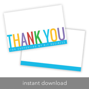 rodan and fields thank you card, rodan and fields business, rodan and fields intensive renewing serum