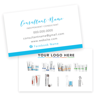 rodan and fields business card, rodan and fields product card, rodan and fields business
