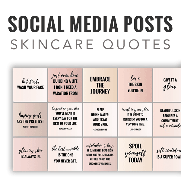 social media posts, skincare quotes, Rodan and fields quotes, instant download quotes