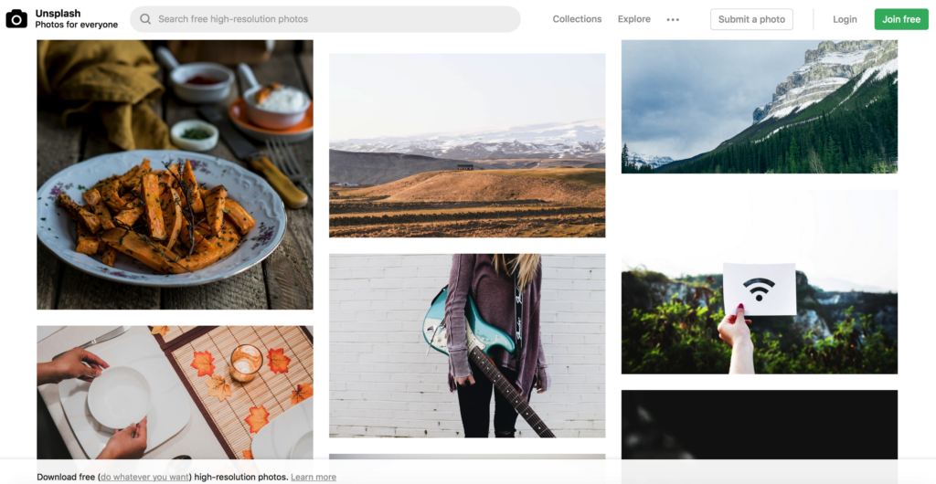 quality free photographs to create Pinterest pins