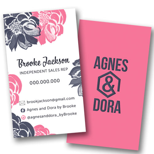 agnes and dora business card, lularoe  business, business stationery