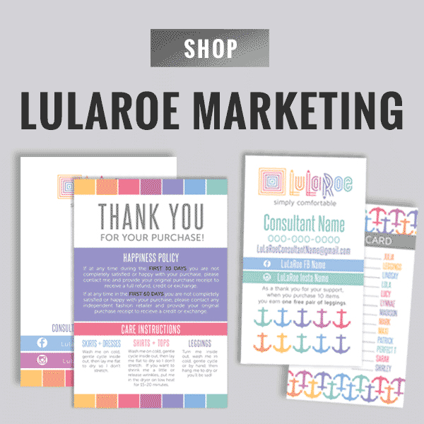 lularoe business cards, lularoe thank you care card, lularoe printables, free printables